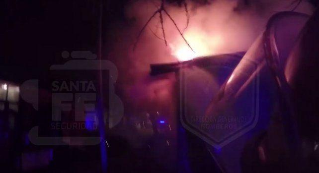 Un video registra el incendio fatal en una verdulería