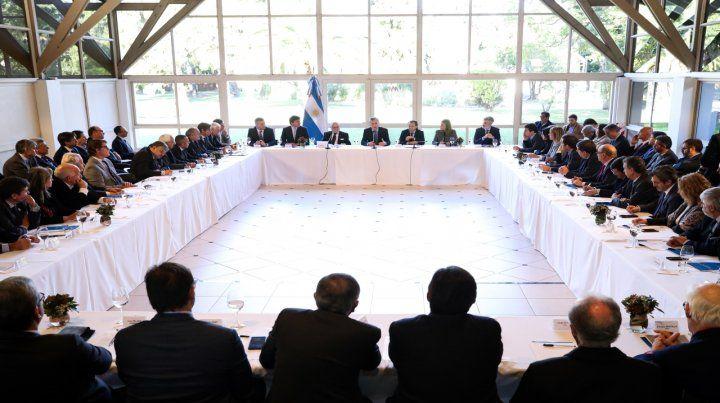 Integración. Macri analizó con empresarios el acuerdo con la Unión Europea.