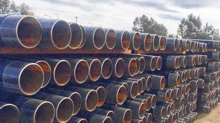 Depositados. El municipio estaba habilitado para vender los tubos.