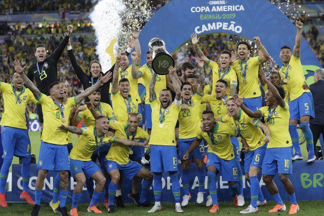 Brasil sumó otra Copa América y achica la distancia con Argentina y Uruguay