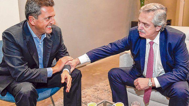 Aliados. El jefe del FR y el precandidato presidencial sellaron un acuerdo a mediados de junio pasado.