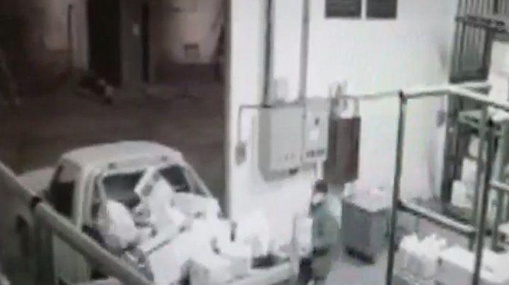 Una imagen de las filmaciones de las cámaras de seguridad de la cooperativa.