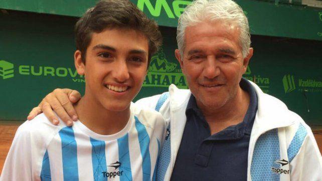 El hijo de Jorge Burruchaga debutó en el juniors de Wimbledon con un triunfo