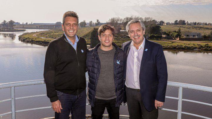 Fernández, Kiciloff y Massa tuvieron su primer acto de campaña juntos