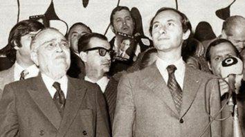 Dupla. Balbín y De la Rúa, la fórmula presidencial de septiembre de 1973.