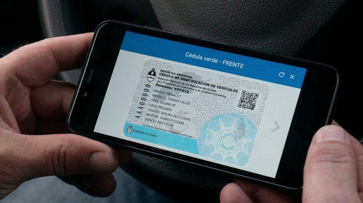 Cómo acceder a las cédulas verde y azul del auto en el celular