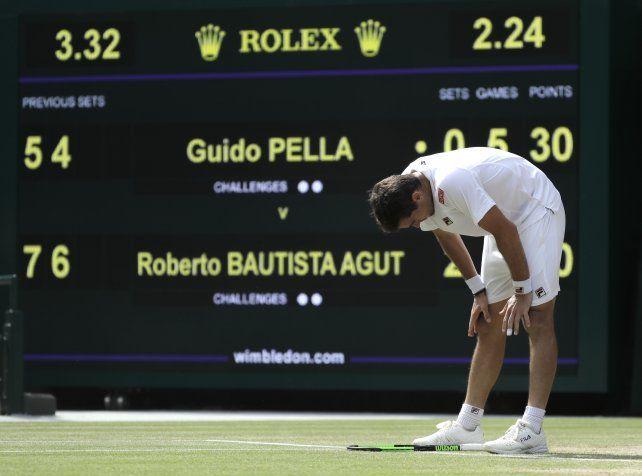 Punto final para el sueño de Guido Pella en Wimbledon