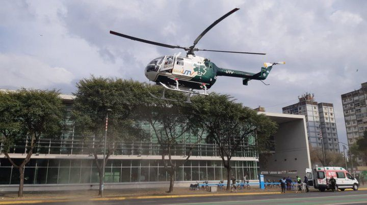 Una de las víctimas fue trasladada en helicóptero al Heca.