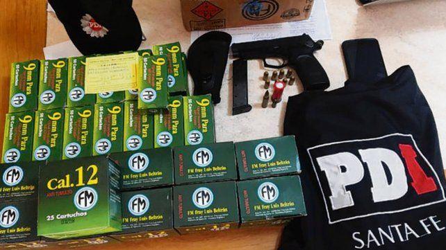 secuestro. Las municiones halladas en poder del gendarme preso.