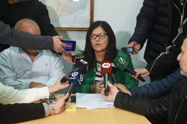 La secretaria de Transporte y Movilidad, Mónica Alvarado, destacó el esfuerzo del municipio para que hoy haya colectivos en Rosario.