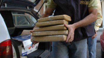 En paquetes. Los 100 kilos de marihuana estaban en 129 panes.