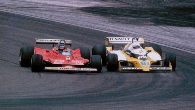 Qué tiempos aquellos. Gilles Villenueve y René Arnoux pelean rueda a rueda el segundo puesto de una carrera histórica en Dijon 79.