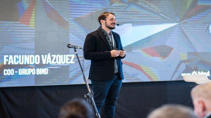 Disrupción. Vázquez destacó el desarrollo del Grupo Bind con la banca integrada o Api Bank