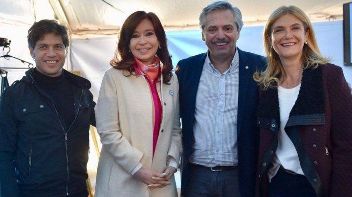 Frente de todos. La imagen de Cristina buscará arrastrar votos hacia Kicillof