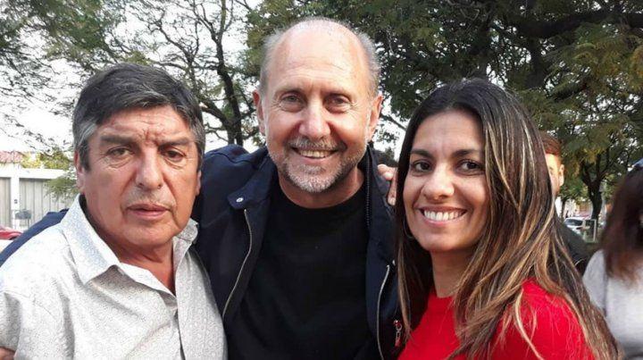 Roberto Avila junto a Omar Perotti y Andrea Bejaran Oberti