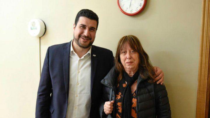Reunión. Marcos Cleri y la senadora provincial Cristina Berra.