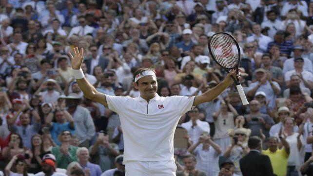 Exquisito. Roger llega con la inyección anímica de haber sacado a su archirrival Rafael Nadal.
