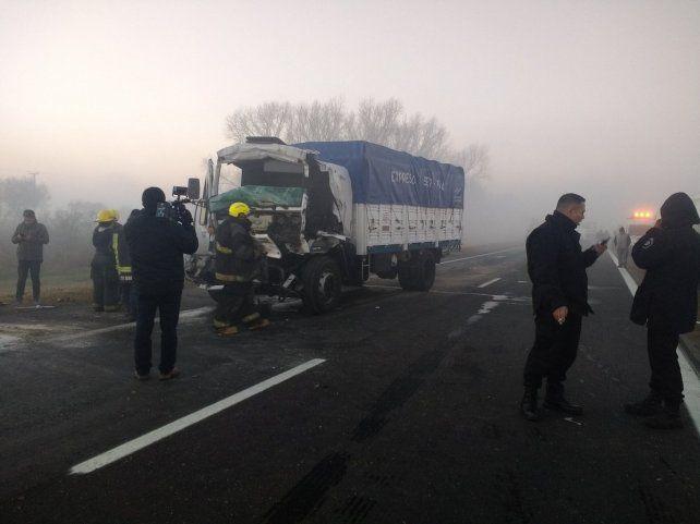 El siniestro vial se registró en el kilómetro 5 de la autopista Rosario-Santa Fe.