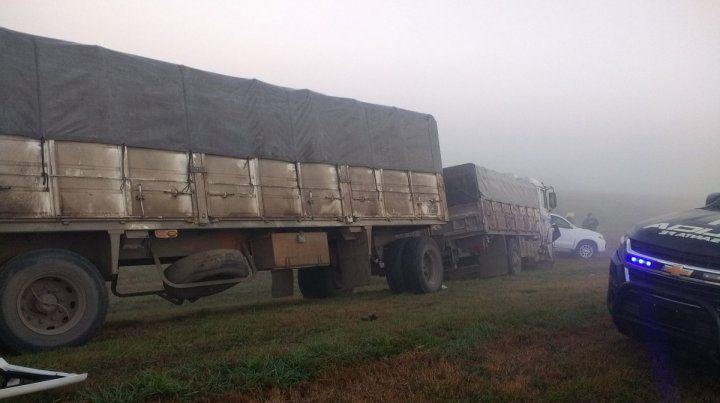 Tres heridos en un choque múltiple en la autopista que une Rosario con Santa Fe