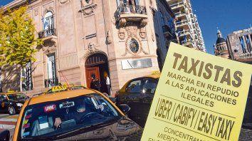 Reclamo. Los cuestionamientos contra Cabify habían partido desde las distintas agrupaciones de taxistas.