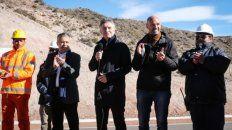 Ruta 40. Cornejo y Macri, en clave de campaña para las inminentes Paso.