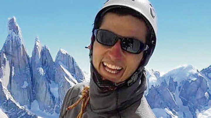feliz. Una imagen del joven santafesino durante una escalada.