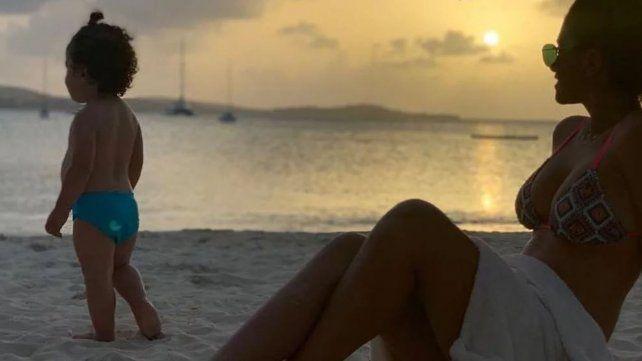 Las fotos más románticas de Messi y Antonela al atardecer del Caribe