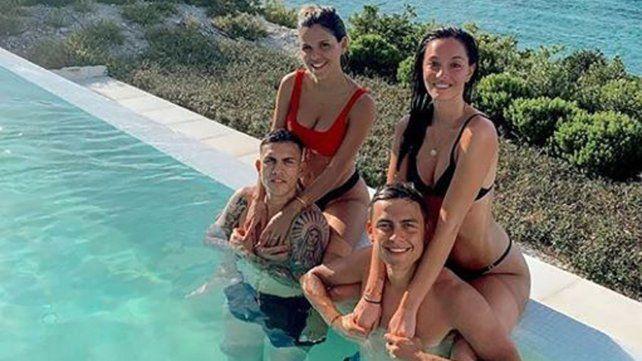 Oriana Sabatini y Paulo Dybala con amigos en las Islas Turcas y Caicos