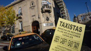 Reclamo. Los taxistas habían pedido sanciones para las aplicaciones.