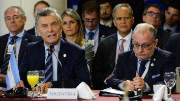 Macri presidirá la Cumbre del Mercosur