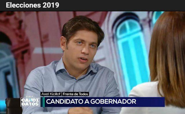 El candidato por el Frente Todos
