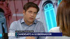 El candidato por el Frente Todos, Axel Kicillof, fustigó al gobierno nacional.