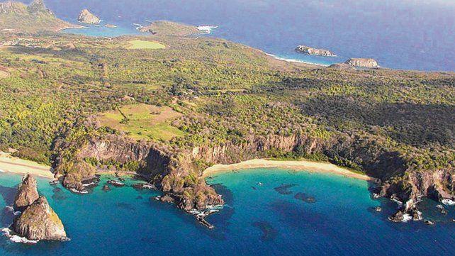 Solitaria. La isla de Fernando de Noronha se encuentra a 545 kilómetros de Recife en dirección a Europa.