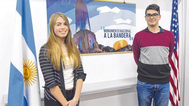 Hacia el futuro. Evelyn Muratore y Lautaro Vásquez