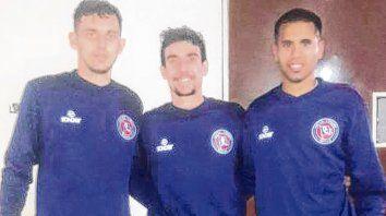 Pura juventud. Bautista Carrera, Cristian Sgotti y Maxi Saucedo se mostraron confiados de cara a la segunda semi de Copa Santa Fe.