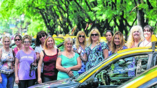 Las mujeres taxistas apoyaban la aplicación.