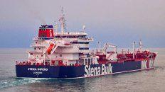 Secuestrado. El petrolero Stena Impero, de bandera británica.