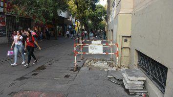 Córdoba y Maipú. Una postal de la deprimida zona, ayer por la tarde.