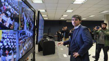 El secretario de Asuntos Políticos del Ministerio del Interior, Adrián Pérez, supervisó la prueba.