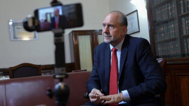 El gobernador electo Omar Perotti.