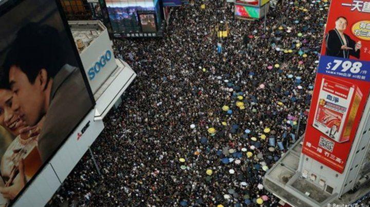 Movilización. Los ciudadanos de Hong Kong
