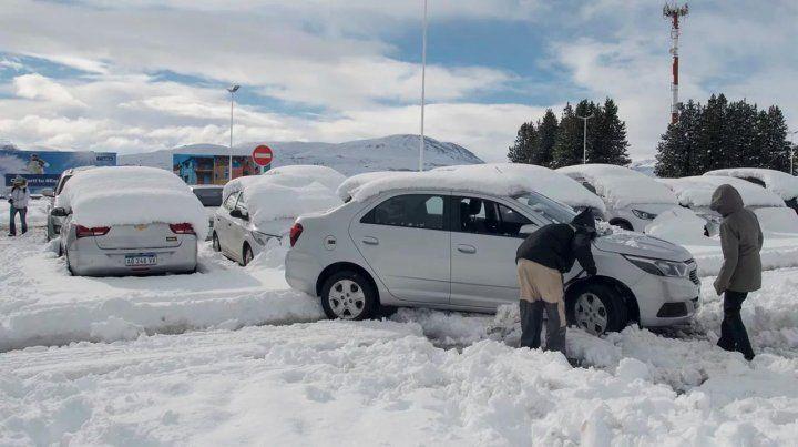 Intensas nevadas en los principales destinos turísticos de la Patagonia