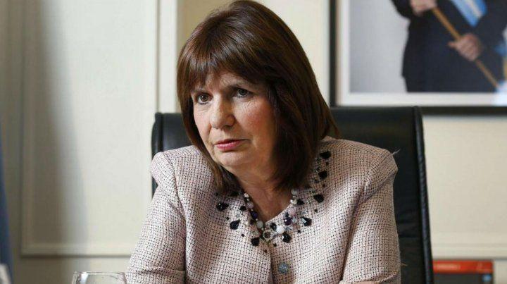 La ministra de Seguridad Patricia Bullrich.
