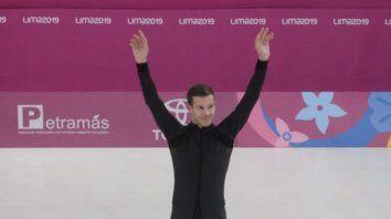Convencido. El patinador rosarino se apoyó en su fuerte artístico y se coronó en los Juegos de Lima.