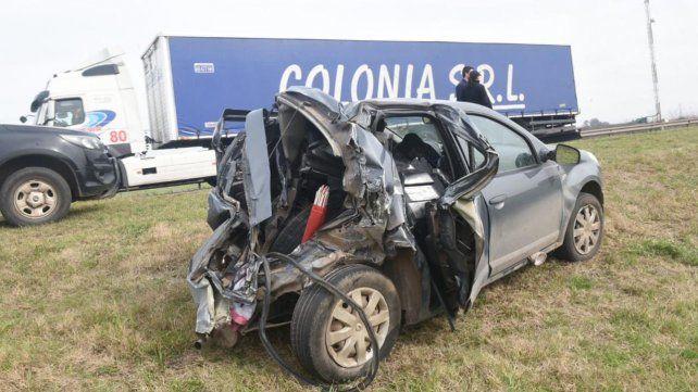 El accidente en la autopista.
