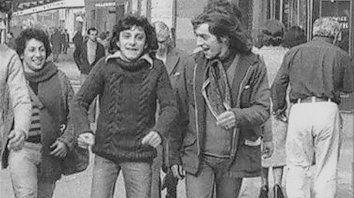 Leyenda. El Topo Carbone y Baglietto en las calles de Buenos Aires, en 1979.