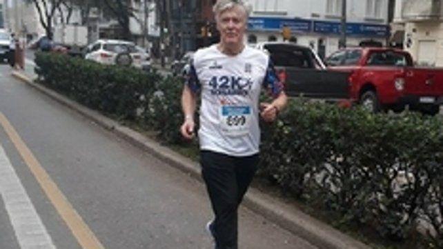 Atleta. Bertram tuvo que reducir su participación en las maratones.