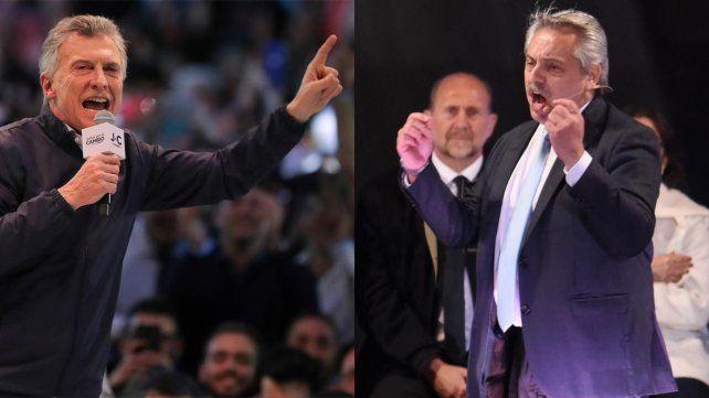 Macri en Córdoba y Los Fernández en Rosario hicieron el cierre de sus respectivas campañas.