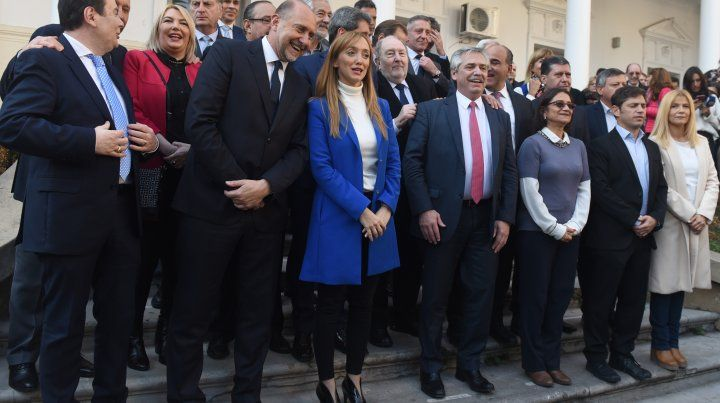 Facultad de derecho. El precandidato presidencial ratificó respaldos políticos de cara a las Paso.