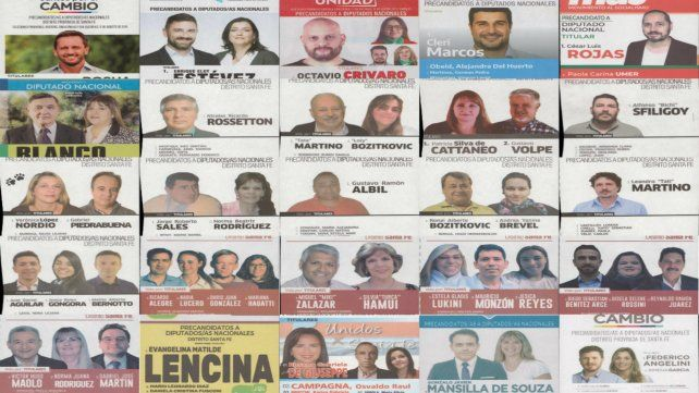 Estas son las boletas para los cargos que aspiran a representar a la provincia en la Cámara de Diputados nacional.